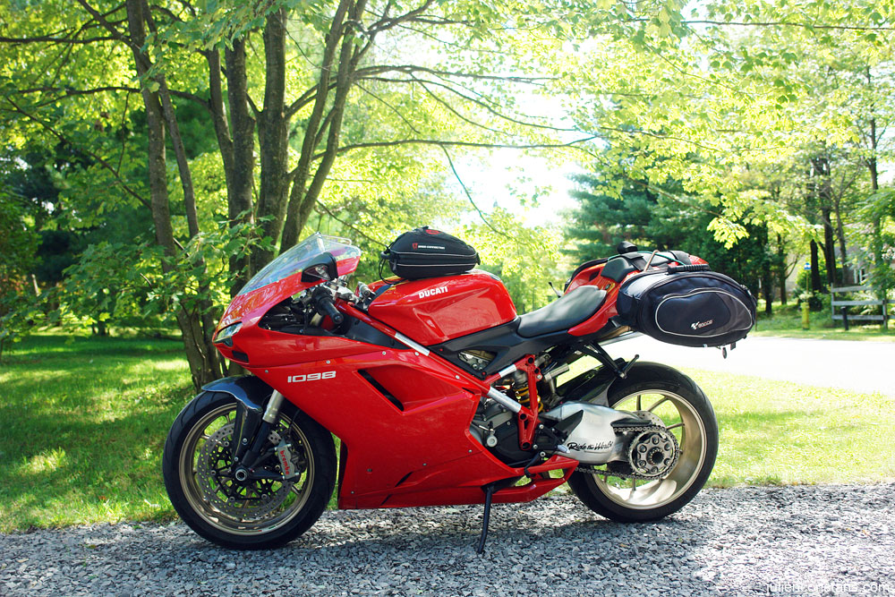 Ducati 1098 tankbag and luggage