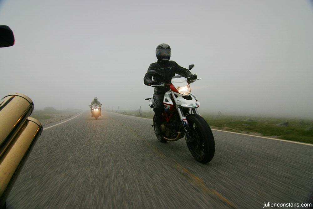 Mt Washington Auto Road in the fog