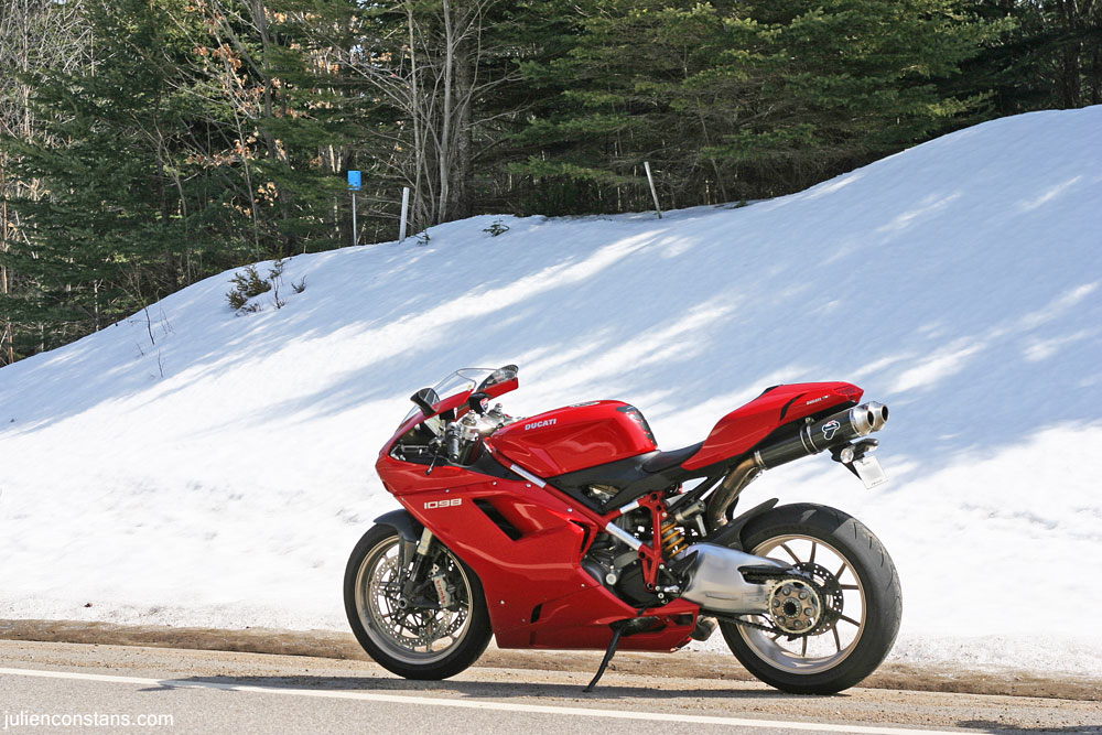 Ducati 1098 Hypermotard straight road
