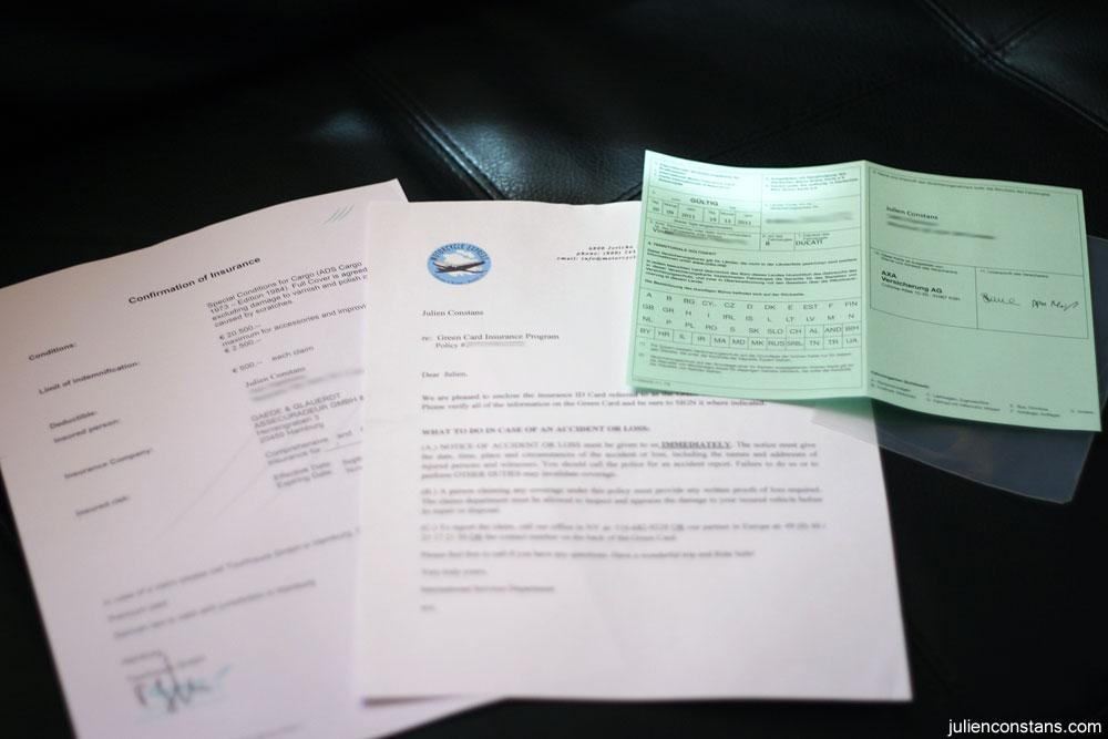 Insurance Green Card