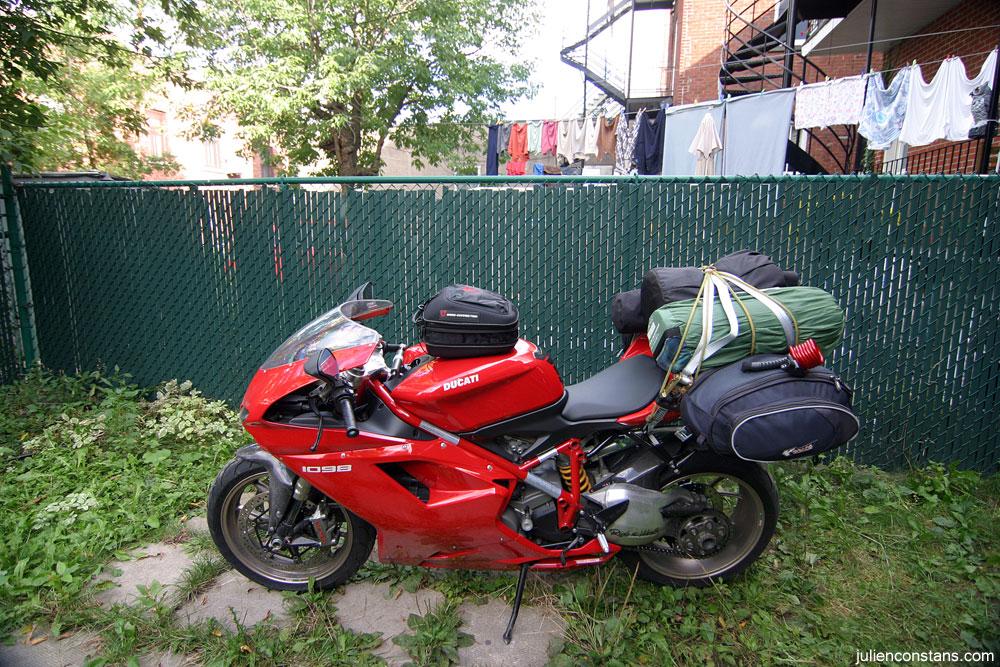 Ducati 1098 Touring luggage