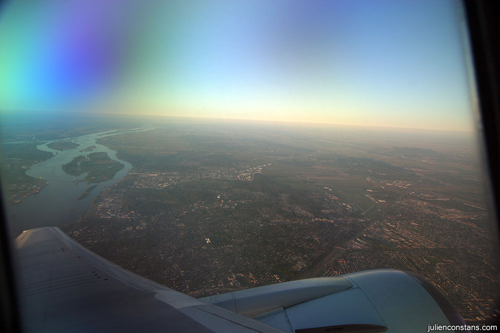Flying out of Montreal, view on Laval
